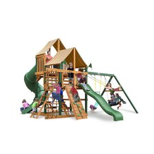 <strong>Gorilla Playsets</strong> Great Skye I Swing Set with Western Ginger Sunbrella Canopy