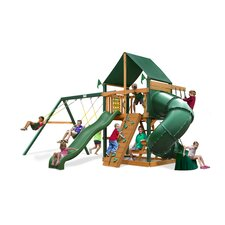 <strong>Gorilla Playsets</strong> Mountaineer Swing Set with Canvas Green Sunbrella Canopy