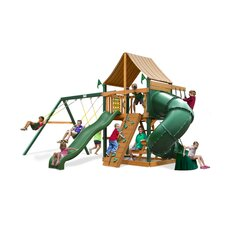 <strong>Gorilla Playsets</strong> Mountaineer Swing Set with Western Ginger Sunbrella Canopy