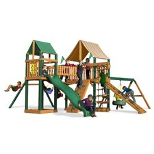 Pioneer Peak Swing Set with Western Ginger Sunbrella Canopy