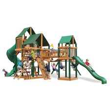 Treasure Trove Swing Set with Canvas Green Sunbrella Canopy
