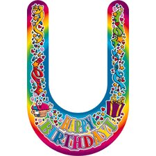 Visors Happy Birthday 30/pk Plastic