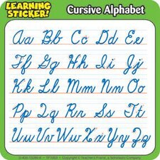 Cursive Alphabet 4in Learning