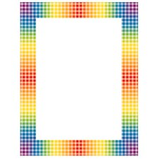 Design Paper Rainbow Gingham 50 Sht