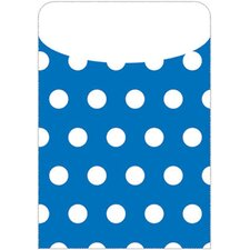 Brite Pockets Blu Polka Dots 35/bag