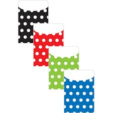 Brite Pockets Asst Polka Dots 25bag