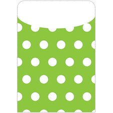 Brite Pockets Grn Polka Dots 35/bag