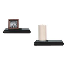 InPlace Floating Decorative Wood Shelf (Set of 2)