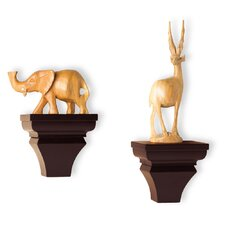 InPlace Wood Sconce Set (Set of 2)