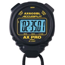 AX Professional Event Stopwatch with Continuous-on LED Backlight