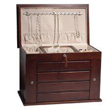 Aria Jewelry Armoire in Mahogany