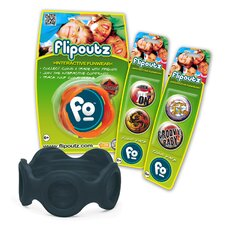Flipoutz Bracelet with One Coin and Two Additional Coin Pack in Black