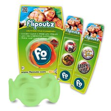 Flipoutz Bracelet with One Coin and Two Additional Coin Pack in Glow in the Dark