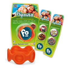 Flipoutz Bracelet with One Coin and Two Additional Coin Pack in Orange
