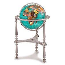 Gemstone Globe with Opalite Ocean and Ambassador 3-Leg High Stand