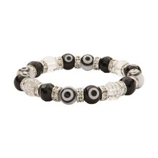 <strong>Alexander Kalifano</strong> Evil Eye Gorgeous Glass Bracelet