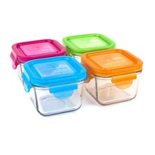7-oz.Garden Snack Cube Lunchbox (Set of 4)