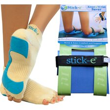 <strong>Stick-E Yoga</strong> Socks, Knee and Wrist Saver Combo
