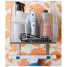 Ironing Board Holder with Basket