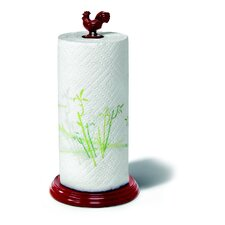 Rooster Paper Towel Holder in Red