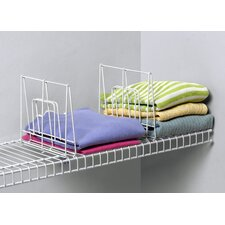 Closet Organization Small Ventilated Shelf Divider in White
