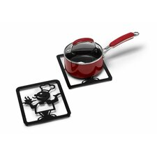 Silhouettez Pantry Chef Trivet in Black