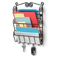 <strong>Spectrum Diversified</strong> Scroll Wall Mount Letter Holder in Black