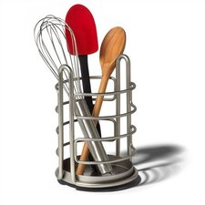 Euro Utensil Holder in Satin Nickel