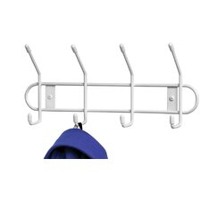 4 Hook Wall Rack