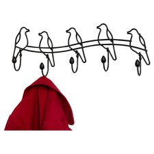 Tweet 5 Hook Rack