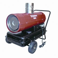 Temporary 133,000 BTU Forced Air Utility Diesel / Kerosene Space Heater