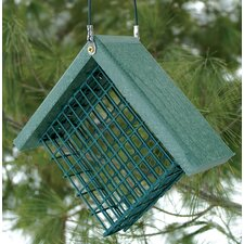 Go Green Suet Bird Feeder in Green