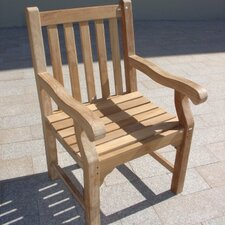 <strong>Royal Teak by Lanza Products</strong> Teakwood Kensington Dining Arm Chair