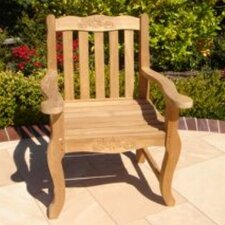 <strong>Royal Teak by Lanza Products</strong> Teakwood Double Rose Dining Arm Chair