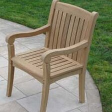 <strong>Royal Teak by Lanza Products</strong> Teakwood Compton Dining Arm Chair