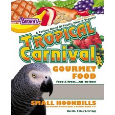 Small Tropical Carnival Hookbill Food - 5 lbs