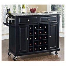 Wine Cart with Granite Top