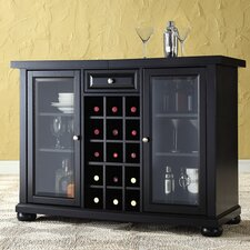 Alexandria Sliding Top Bar Cabinet in Black