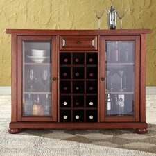 <strong>Crosley</strong> Alexandria Sliding Top Bar Cabinet in Classic Cherry