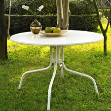 <strong>Crosley</strong> Griffith Metal Dining Table in White