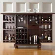<strong>Crosley</strong> Cambridge Expandable Bar Cabinet in Vintage Mahogany