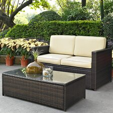 <strong>Crosley</strong> Palm Harbor 2 Piece Seating Group with Cushions