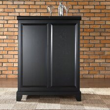 <strong>Crosley</strong> Newport Expandable Bar Cabinet in Black