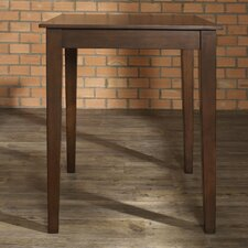 Tapered Leg Pub Table in Vintage Mahogany
