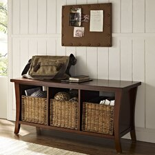 Wallis Wood Entryway Storage Bench