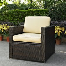 Palm Harbor Outdoor Wicker Deep Seating Chair with Cushion