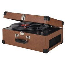 Tan Traveler Turntable
