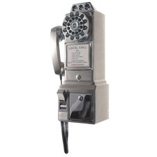 <strong>Crosley</strong> 1950's Classic Brushed Chrome Pay Phone