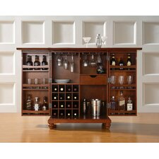 Cambridge Expandable Bar Cabinet in Classic Cherry