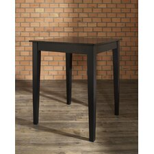 Tapered Leg Pub Table in Black